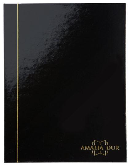 Das Cover der Amalia Dur Notenmappe, schwarz, glänzend